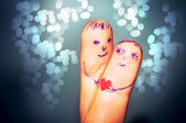 Fingers in love — Stock Photo