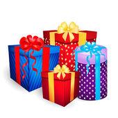 Vektor-weihnachts-geschenk-boxen — Stockvektor