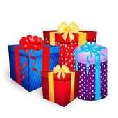 Christmas gift boxes vector — Stock Vector