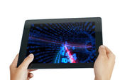 Tablet pc with numbers — Stock Photo