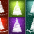 Christmas trees set — Stock Vector