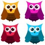 Owls set — Stock Vector #37290141
