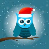 Winter owl — Stock Vector