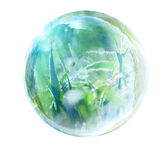 Grass in glass bubble — Stock Photo