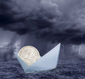Ruble in crisis — Stock Photo