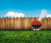 Kettle barbecue grill — Stock Photo
