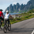 Two cyclists relax biking — Stock Photo #42626007