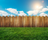 Garden fence — Stock Photo
