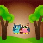 Owl family vector — Stock Vector #42832141