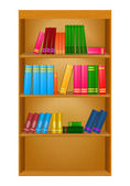 書籍の棚 — ストックベクタ