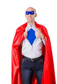 Man acting like a super hero — Stock Photo