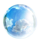 Sky in glass bubble — Stock Photo