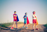 Kids superhero — Stock Photo