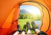 Camping i bergen — Stockfoto