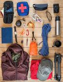 Набор оборудования для путешествия — Стоковое фото