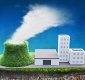 Green factory — Stock Photo