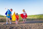 Children superheros — Photo