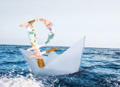 Russian ruble crisis — Stock Photo