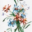 Color illustration of flowers in watercolor paintings — Stock Photo #12146316