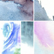 Set of watercolor abstract hand painted backgrounds — Stock Photo #12314723