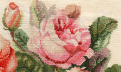 Detail flower embroidery — Stock Photo