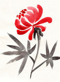 Chinese painting-flower version — Stock Photo
