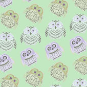 Owls pattern background — Stock Photo