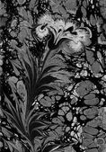 可爱的花卉背景。土耳其的水彩花卉 — 图库照片