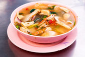 Hot and sour seafood soup — Stock Photo