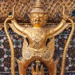 Golden garuda decoration in temple of emerald Buddha — Stock Photo