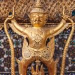 Golden garuda decoration in temple of emerald Buddha — Stock Photo