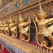 Golden garuda decoration in row in temple of emerald Buddha - Stok fotoğraf