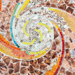 Colorful tile spiral pattern background — Stock Photo