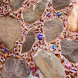 Colorful tile and rock  pattern background — Stock Photo