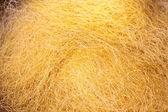 Yellow silk thread — Stock Photo