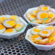 Grilled quail eggs — Stock Photo