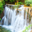 Tropical waterfall in kanchanaburi, Thailand — Stock Photo