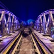 River Kwai metal train bridge — Stock Photo