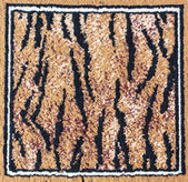 Black and brown tiger rug — Stock Photo