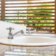 Stock Photo: White wash basin