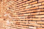 Old orange brown brick wall — Stock Photo