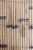 ścienne z drewna bambusa brązowe paski — Zdjęcie stockowe