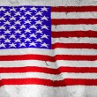 USA flag painted on rough white paper  — Stock Photo
