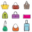 Bags icon set - Vettoriali Stock