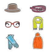 Fashion accessories icon set — Stock Vector