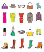 Fashion icon set — Stock Vector