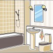 Bathroom — Stock Vector