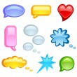Speech bubble icon set — Stock Vector #18306647