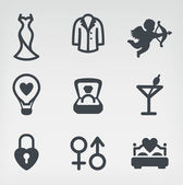 Wedding icon set — Stock Vector