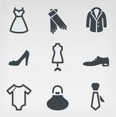 Fashion icon set — Stock Vector
